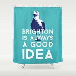 Seagull in Brighton Shower Curtain
