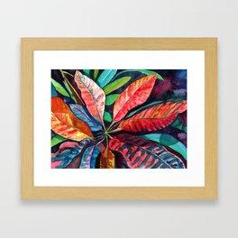 Colorful Tropical Leaves 2 Framed Art Print