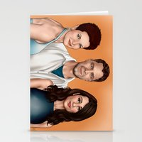 allison argent Stationery Cards featuring Argent Family Photo - San Francisco, 2010 by xKxDx
