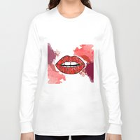 lip Long Sleeve T-shirts featuring Lip by nafrodrigues