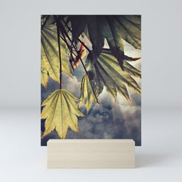 full moon maple sky Mini Art Print