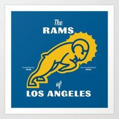LA Rams Art Print