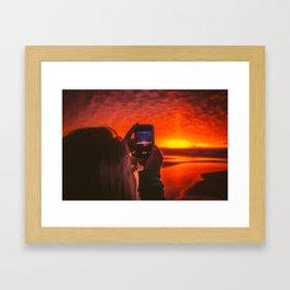 iPhone Sunset Framed Art Print