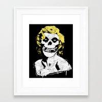 misfits Framed Art Prints featuring Misfits Monroe by AtomicChild