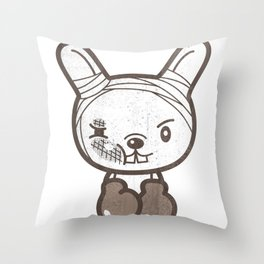 Boxing Bunny Throw Pillow