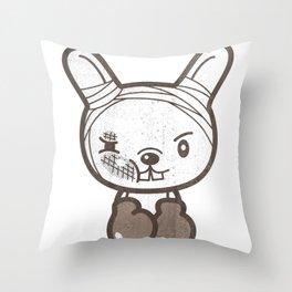 Boxing Bunny Throw Pillow