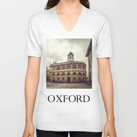 theater V-neck T-shirts featuring Oxford: Sheldonian Theater by Solar Designs