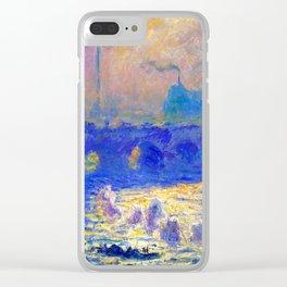 Claude Monet Waterloo Bridge Clear iPhone Case