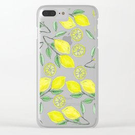 Life handed me lemons Clear iPhone Case