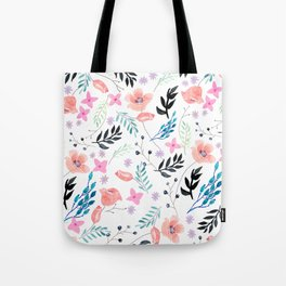 Sweet Floral Watercolor Tote Bag