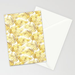 Palm Leaves_Gold and White Stationery Cards