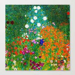 Gustav Klimt - Flower Garden Canvas Print