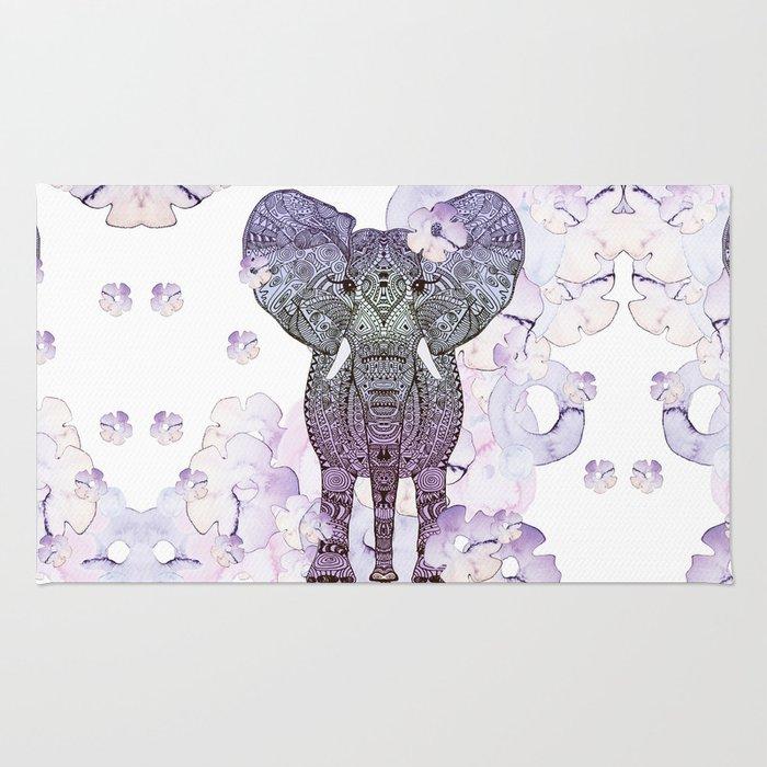 FLOWER SHOWER ELEPHANT Rug