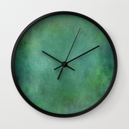 Looking into the depths of green Wall Clock