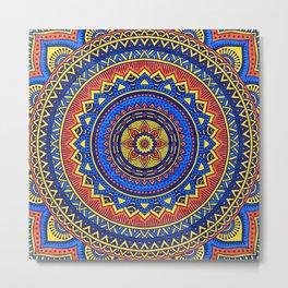 Hippie mandala 57 Metal Print