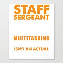 Staff Sergeant Wizard Canvas Print