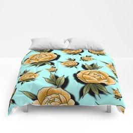 Peony Paradise Blue Comforters
