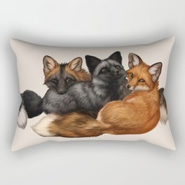 Fox Trio Rectangular Pillow