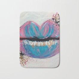 Cotton Candy Lips Art Bath Mat