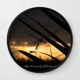 Sentinel Dragonfly Morning Inspiration Wall Clock