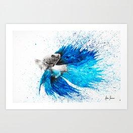 Phthalo Fish Tail Art Print