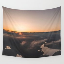 Sea of clouds during  sunset Wall Tapestry