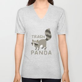 Raccoon Funny Unisex V-Neck