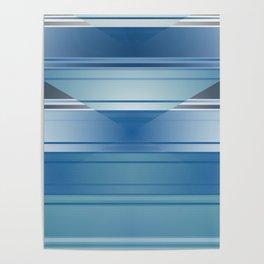 Blue stripes Poster