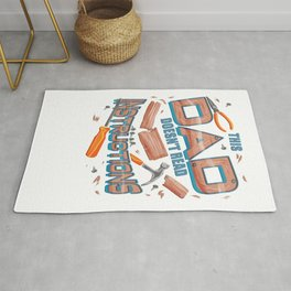 Funny Father's Day Gift This Dad Doesn't Read Instructions Rug