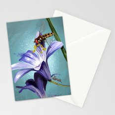 Wasp on flower 11 Stationery Cards