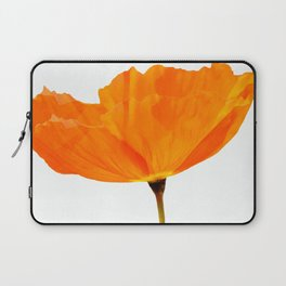 One And Only - Orange Poppy White Background #decor #society6#buyart Laptop Sleeve