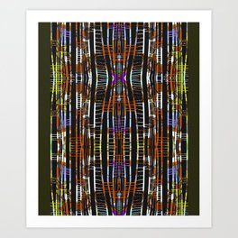 PIPING HOT, colorful pattern art, trip FASHION Art Print