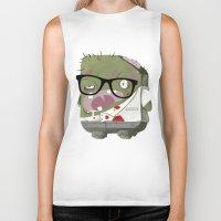 zombie Biker Tanks featuring Zombie by Silver Larrosa