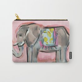 Elated Elephant Carry-All Pouch