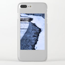 Grounding Snow Clear iPhone Case