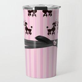 Poodles And Pink Hearts Travel Mug