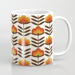 Boogie - retro florals minimal trendy 70s style throwback flower pattern Coffee Mug