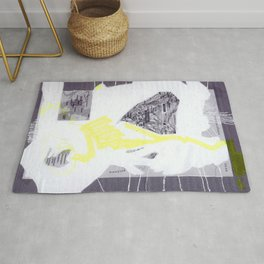 scan of yellow highlighter on digital print  Rug