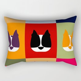 Boston Terrier (BoTe) Pop Art Style Rectangular Pillow