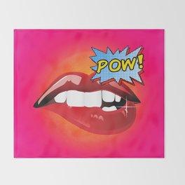 Pow! Sexy lips Fashion Pop Art Throw Blanket