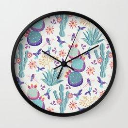 Summer Hummers Wall Clock