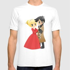 OUAT - Captain Swan Formal Mens Fitted Tee MEDIUM White
