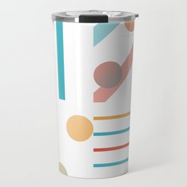 Simple saturated pattern Travel Mug