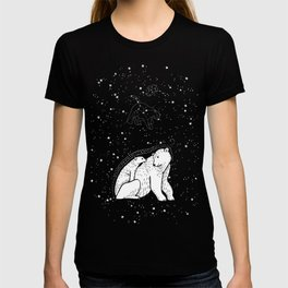 Polar Bear and Constellation Arctic Night Sky Stars T-shirt