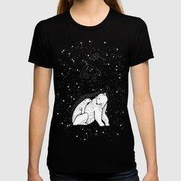 Polar Bear and Constellation Arctic Night Sky Stars T-shirt