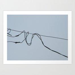 Fios e construção (2) Art Print