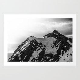 Shuksan Shine Black and White Art Print
