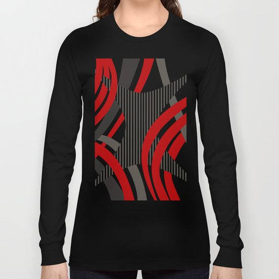 Red Wired Long Sleeve T-shirt
