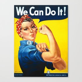 Rosie The Riveter Vintage Women Empower Women's Rights Sexual Harassment Canvas Print