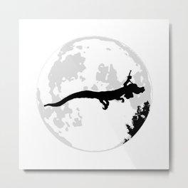 Falkor Moon Metal Print